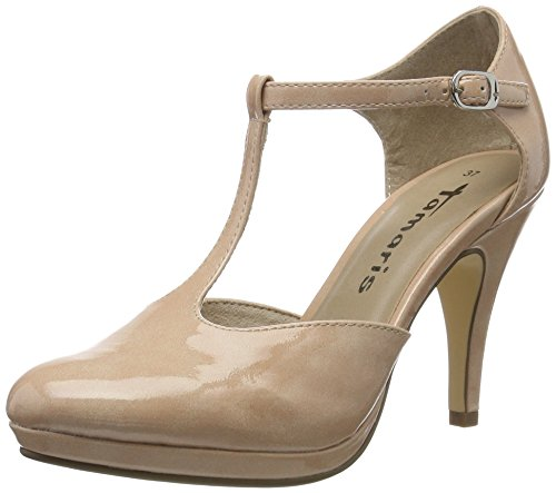 Tamaris Damen 24428 Pumps, Pink (Rose PATENT 575), 40 EU