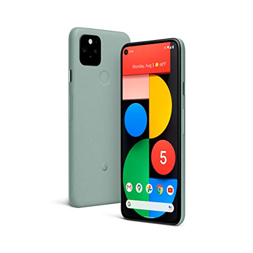 Google Pixel 5 - 5G Android Phone - Water Resistant - Unlocked Smartphone with Night Sight and Ultrawide Lens - Sorta Sage