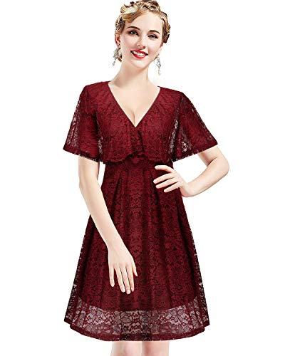 Womens Vintage Off Shoulder Ruffle Floral Print Party Bodycon Pencil Dress