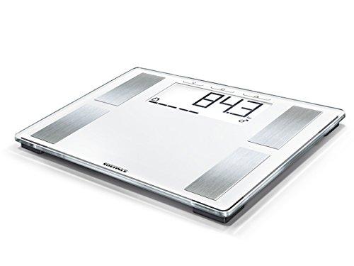 Soehnle Shape Sense Profi 100 Körperfettwaage, mit Premium-Körperanalyse, Personenwaage mit extragroßer Standfläche, Waage für exakte Messung und BMI-Berechnung, weiß