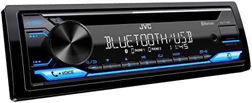 JVC KD-T716BT CD-Autoradio mit BT-Freisprecheinrichtung (UKW RDS Tuner, Soundprozessor, USB, AUX, Spotify Control (für Android), 4 x 50 Watt, Tastenbeleuchtung blau)