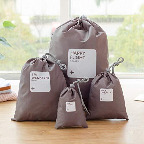 Landish 2020 4 Teile/los Set Reise Zubehör Männer und Frauen Kleidung Klassifiziert Veranstalter Verpackung Taschen Schuhe Taschen Gepäcktasche Großhandel, Kaffee
