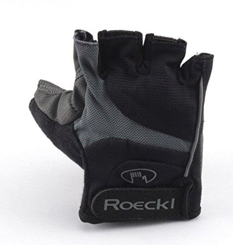 Roeckl guantes de ciclismo MTB verano corto del dedo Negro Gris 1255,...
