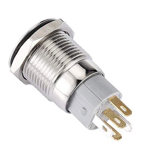 balikha Interruptor de Botón de Bloqueo Carcasa de Acero Inoxidable de Aleación de Aluminio para 16 Mm