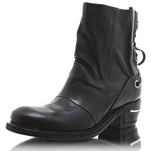 A.S.98 512208 Damen Biker Western Stiefelette Boots (37, Nero)