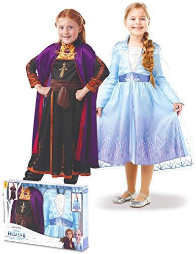 Rubie's France Coffret déguisements Elsa et Anna La Reine des neiges 2 Fille - 7 à 8 Ans (117 à 128 cm)