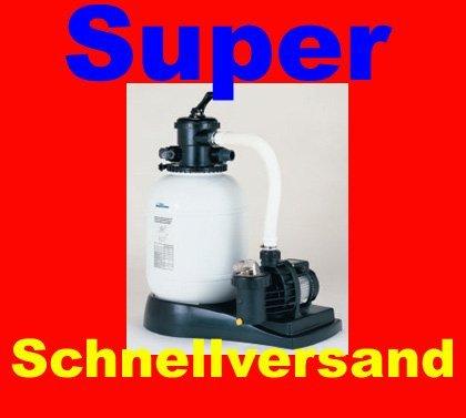 Sandy 8 super Sandfilteranlage Sandfilter 8m²/h mit Pumpe
