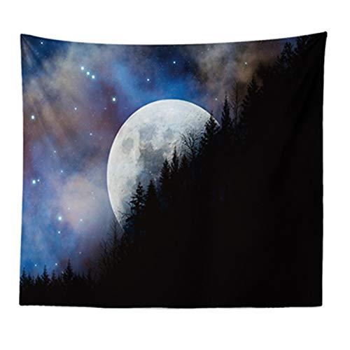 Naturkunst-Mond-Tapisserie-Berggalaxie Sternenhimmel hängende Wand-Wandteppiche (Color : 2, Size : 200cmx150cm)