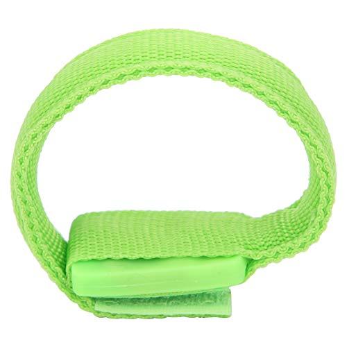 Pulsera ligera, diseño de gancho y bucle Pulsera deportiva LED Ligero para fitness para deportes al aire libre para protección deportiva para entrenamiento muscular(green)