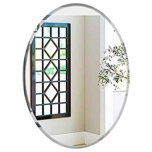 LXDDP Ovale rahmenlose Spiegel, 50 x 70 cm, abgeschrägtes, elliptisches Bad, hängender Spiegel, HD-Waschtisch, Schminkspiegel, Fliesen, Wanddekor, für Flur, Wohnzimmer, Schlafzimmer