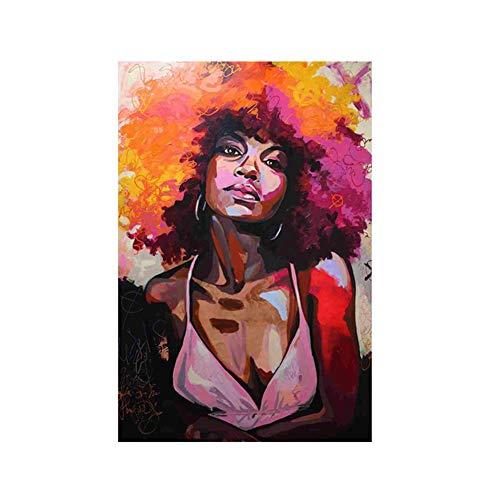 Danigrefinb Creatieve aquarel vrouw canvas schilderij poster muur kunst foto geen frame huisdecoratie 21x30cm 3#