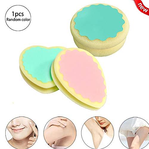 Xiton 1 UNID Magic Hair Removal Sponge Smooth Legs Skin Pad Herramienta para la eliminación del vello sin dolor Aflojador de cabello liso portátil para hombres y mujeres (forma aleatoria)