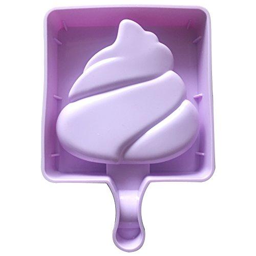 Qearly Mignon Petit Moules Silicone Ice Cream Pop Moules à Crème-Une pièce de torche olympique