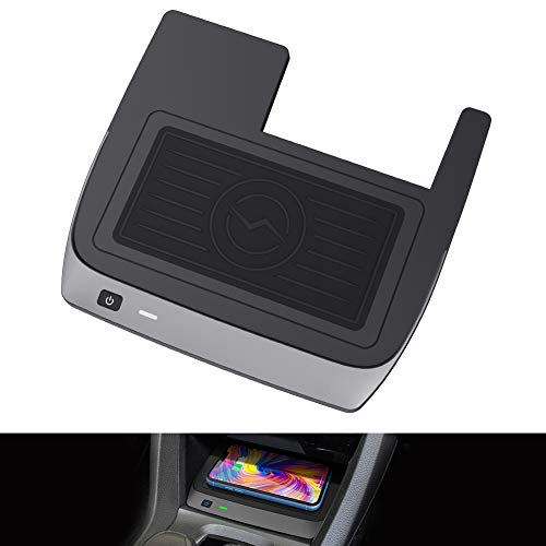 CarQiWireless Wireless Charger for Civic with Fast Charging Charger, 3 Coils QI Phone Wireless Charging Pad Mat fit for 10th Gen Honda Civic 2020 2019 2018 2017 2016 Accessories - with Fast Charging