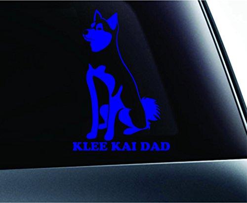 Alaskan Klee Kai Dad Dog Symbol Decal Funny Car Truck Sticker Window (Blue) 1