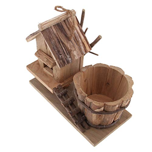B Blesiya Pot de Fleur en Bois Créatif Planteur Récipient Contenants Planteur - Size #6