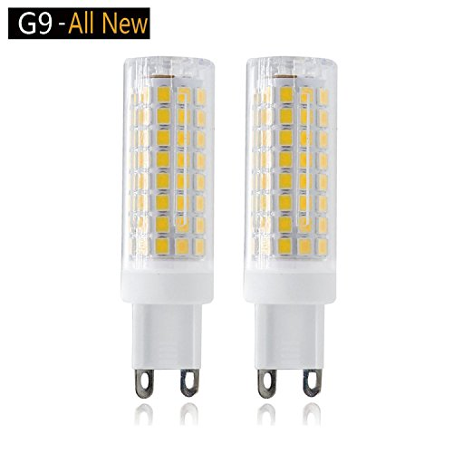 G9 LED Light Bulbs,8W,75W 100W replacement halogen bulbs equivalent 850lm,Dimmable g9 led bulbs AC110V 120V 130 voltage Input,G9 Bi-Pin Base Corn Bulb,G9 Base,Warm White 3000K(pack of 2)