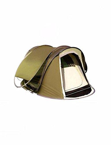 SJQKA-tente 2 secondes, vitesses automatiques tente, plus de 3 à 4 personnes, double le pont double porte de camping camper ensemble,a