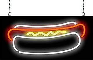 Sponsored Ad - Hot Dog Graphic Neon Sign