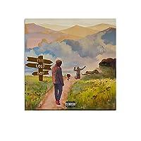 YBNコーデーロストボーイ ポスター装飾キャンバス絵画モダンな壁アートポスターリビングルーム、ベッドルーム、子供部屋、誕生日ギフトアートワーク,28×28inch(70×70cm)