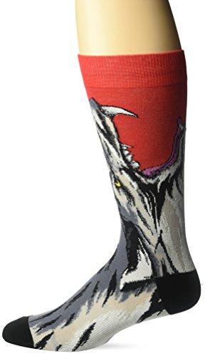 K. Bell Socks mens Leg Eating Animal Novelty Crew Socks