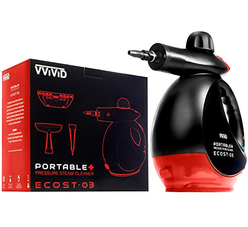 VViViD ECOST-03 Hand-Held Pressurized Steam Cleaner w/Accessory Kit (350 Milliliter)