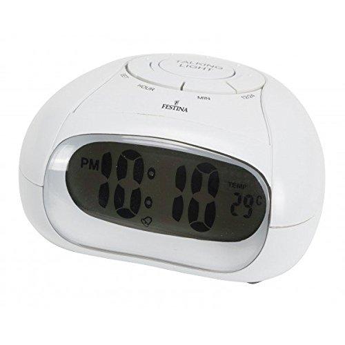 Festina - Reloj Despertador PARLANTE FD0066 - Blanco