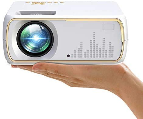 A20 Multimedia Portable Wireless Projector with 4K 1080p Full HD 4200 Lumens Home Cinema with Bluetooth WiFi HDMI VGA USB Connectivity for Movies Video Game PS3/PS4 TV Fire Stick -100 inches