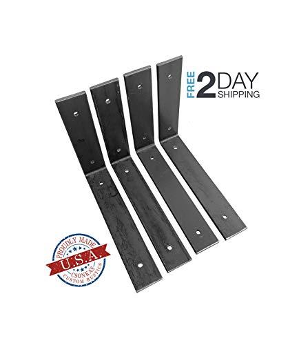 4 Pack - 8L x 8H Angle Shelf Bracket, Iron Shelf Brackets, Metal Shelf Bracket, Industrial Shelf Bracket, Modern Shelf Bracket, Shelving