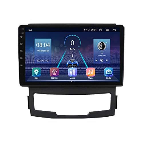 Radio Coche con Cámara De Visión Trasera Car Stereo FM Receptor, para SsangYong Korando Actyon 2010-2013 Android Manos Libres Radio Apoyo Mirror Link/Control del Volante,Quad Core,WiFi 1+16