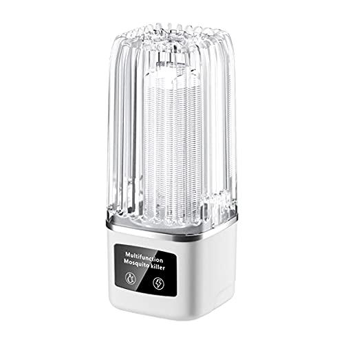 GELEI Lámpara Antimosquitos Eléctrico UV 4.5W, USB Silencio LED Mosquito Lámpara Trampa, 2000V Potencia De Alto Voltaje, Matar Mosquitos, Moscas, Polillas, para Hogar, 60㎡
