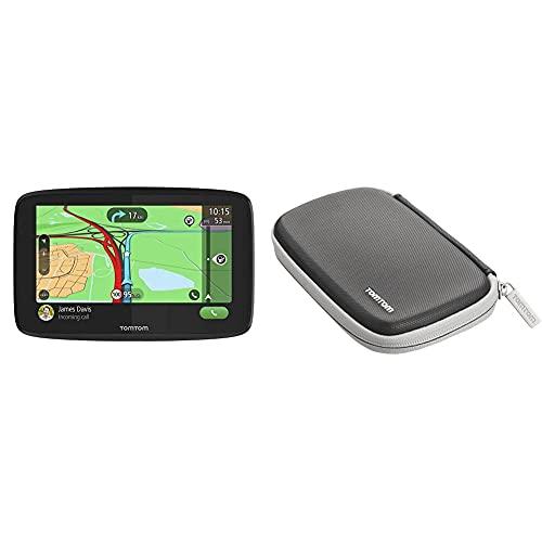TomTom Navigationsgerät GO Essential (5 Zoll, Stauvermeidung Dank TomTom Traffic) & Klassische, schützende Tragetasche für alle 4,3- und 5-Zoll-Display Modelle