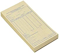 """半月ごと時間カード、番号なし、4–1/ 4"""" x8インチ、100カード/パッドred4K402"""