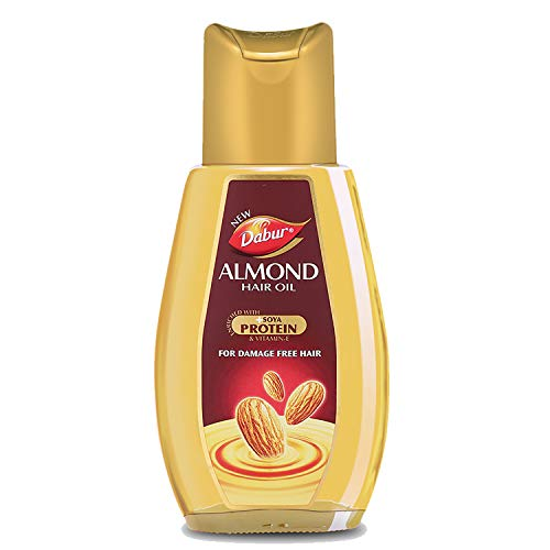 Dabur Almond Hair Oil with Almonds , Soya Protein and Vitamin E for Non Sticky , Damage free Hair - 500ml