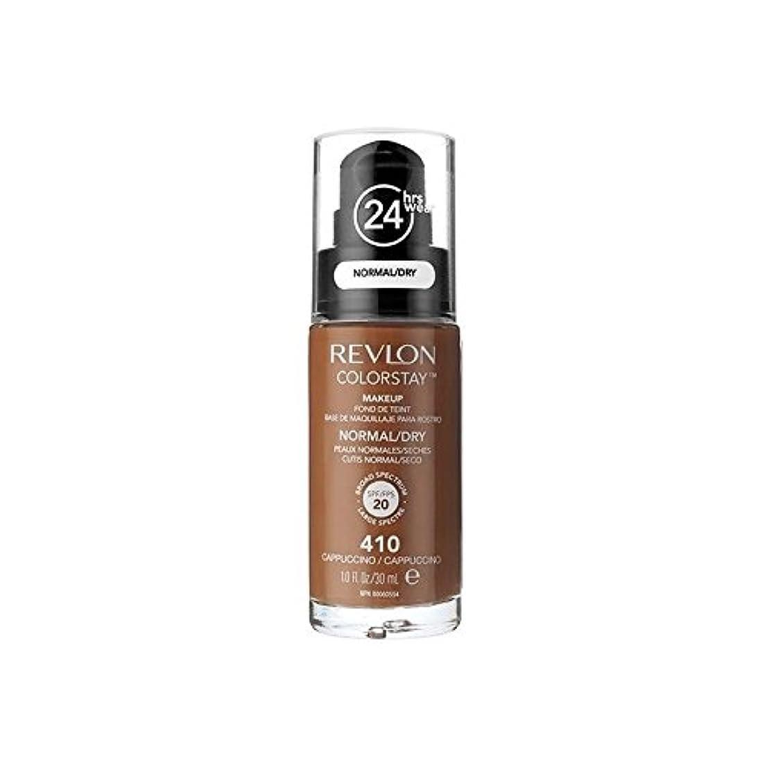 クレア知事チャップレブロンの基礎通常の乾燥肌のカプチーノ x4 - Revlon Colorstay Foundation Normal Dry Skin Cappuccino (Pack of 4) [並行輸入品]