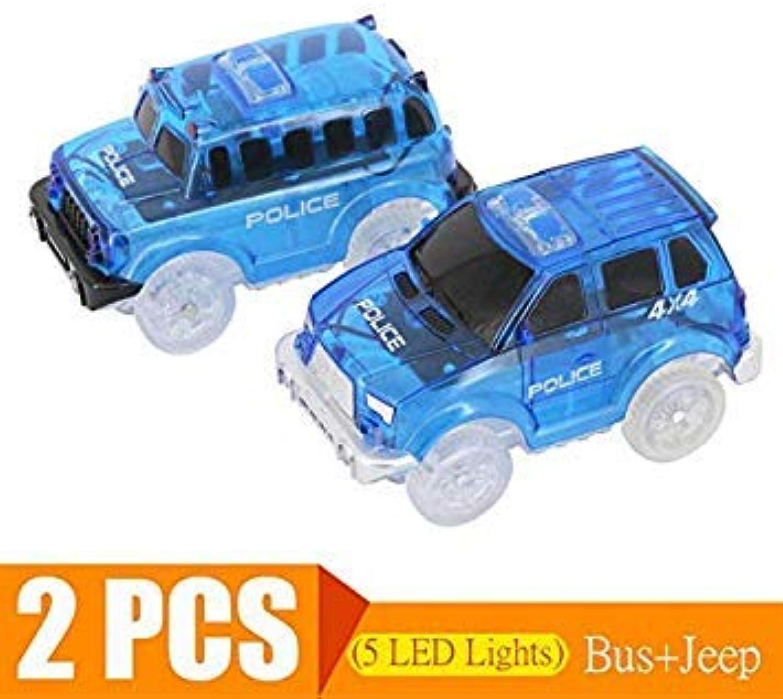 Flashing Lights Fancy Race Track Car Toy Birthday Gift DIY Electric LED Light Cars for Magic Glowing Tracks Speedway Mini 4 car No. 1 5 CAR