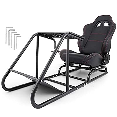 Mophorn Racing Simulator Cockpit Driving Gaming Seat Gear Shift Mount Fit for Logitech G29 G920 PC Foldable Racing Chair Racing Wheel Stand Driving Gaming Chair
