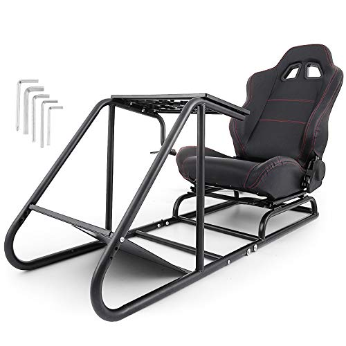 Mophorn Racing Simulator Cockpit Driving Gaming Seat Gear Shift Mount Fit for Logitech G29 G920 PC Foldable Racing Chair Racing Wheel Stand Driving Gaming Chair Chairs Dining Features Game Home Kitchen Video