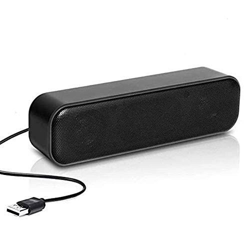 Mini altoparlante per PC, mini barra audio portatile,con alimentazione USB, PC Stereo Portatile per Computer Notebook Laptop e banco cassa