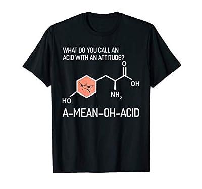 Humor Nerdy Chemistry T Shirt Gifts-Amino Acid for Women Men