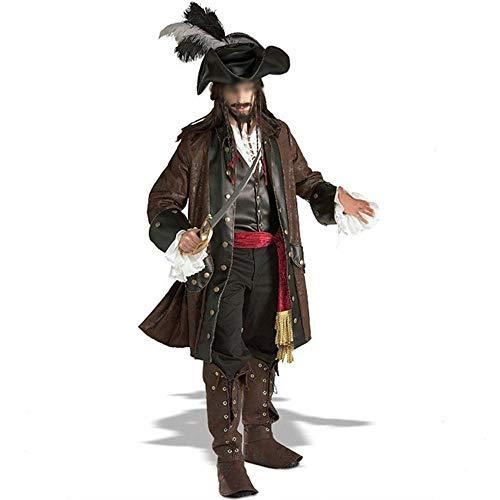 RJJX Home Modische Halloween-Kostüme, Herrlich und Festliche Halloween-Kostüme Der Neue Fluch der Männer Karibik Piraten-Kostüm-Partei Halloween-Party Komfortabel, voller Charme Halloween-Kostüme