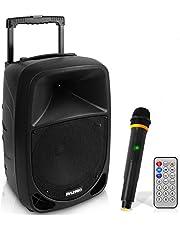 Pyle PSBT105A Karaoke draagbare luidspreker met 10 inch batterij Woofer Bluetooth en draadloze microfoon