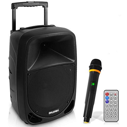 Pyle PSBT105A Altavoz Karaoke portátil con micrófono inalámbrico Bluetooth y Woofer 10