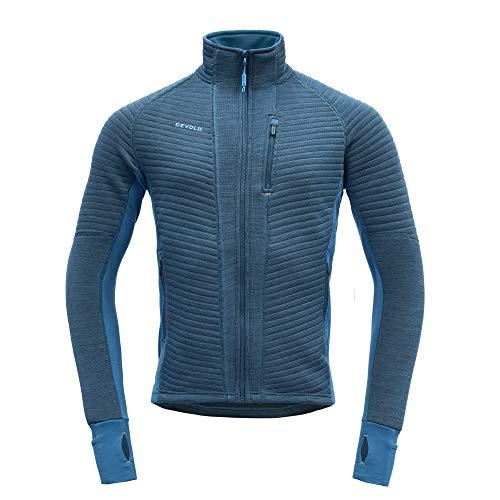 Devold Tinden Spacer Man Jacket Blau, Herren Merino Winterjacke, Größe M - Farbe Blue