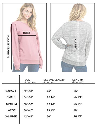esstive Women's Ultra Soft Fleece Lightweight Casual Stripe on Sleeves Varsity Solid Sweatshirt, Marled Charcoal, X-Small