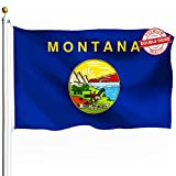 DFLIVE Double Sided Montana State Flag 3x5ft Heavy Duty Polyester 3 Ply MT Treasure State Flags Indoor and Outdoor Use