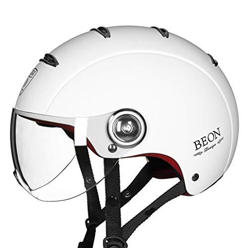 OLEEKA Casco de motocicleta Mitad de cara abierta Moto Jet Casco de moto Moto Scooter Cascos Motor para deportes
