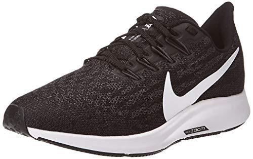 Nike Wmns Air Zoom Pegasus 36, Scarpe Running Donna, Nero (Black/White-Thunder Grey 004), 39 EU