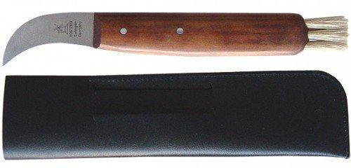 Windmühlenmesser Pilzpflückmesser 4,6cm + Etui Pflaume