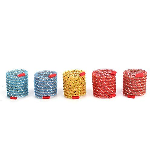 10pcs Cat Catch Chewing Toys, Pet Kitten Interactive Chaser Teaser Playthings Wide Plastic Colorful Springs Gatos Juguete para Gatos Perros Puppy Kitty Kitten Mascotas Regalo de la Novedad